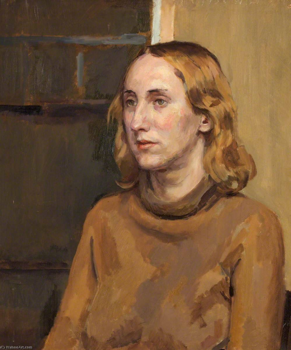 Portrait of an Unknown Woman by Ivor Williams (1908-1982, United Kingdom) | Museum Art Reproductions | ArtsDot.com
