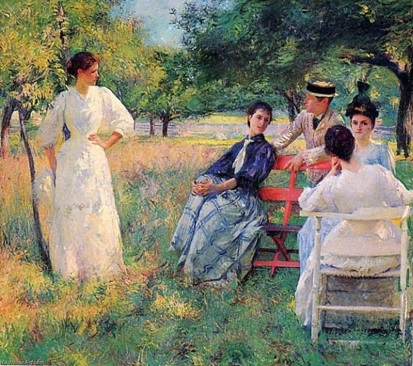 In the Orchard, (painting), 1891 by Edmund Charles Tarbell (1862-1938, United States) | Museum Art Reproductions | ArtsDot.com