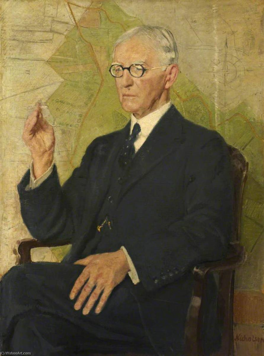 Sir Peter Chalmers Mitchell (1854–1945), 1935 by William Newzam Prior Nicholson (1872-1949, Nottinghamshire) | Art Reproduction | ArtsDot.com