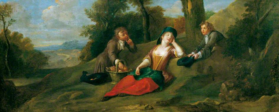 Pastoral Scene by Francis Hayman (1708-1776, United Kingdom) | Museum Quality Reproductions | ArtsDot.com