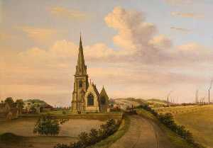 Henry Lark I Pratt - Looking West of St Luke's..