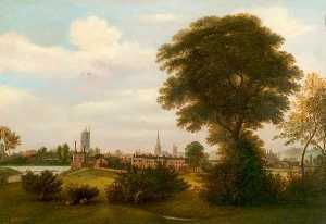 Henry Lark I Pratt - Derby from the Meadows