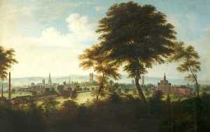 Henry Lark I Pratt - A View of Derby from Rowd..
