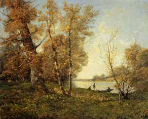 Henri-Joseph Harpignies - The Banks of the Loire
