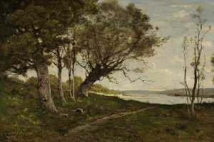 Henri-Joseph Harpignies - The Lake