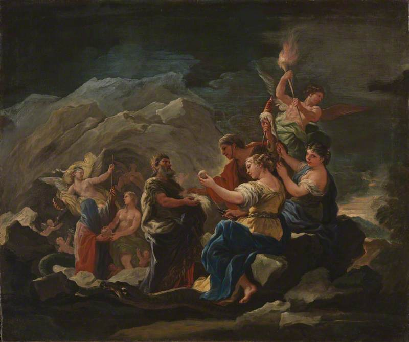 The Cave of Eternity, 1680 by Luca Giordano (1634-1705, Italy) | Art Reproduction | ArtsDot.com