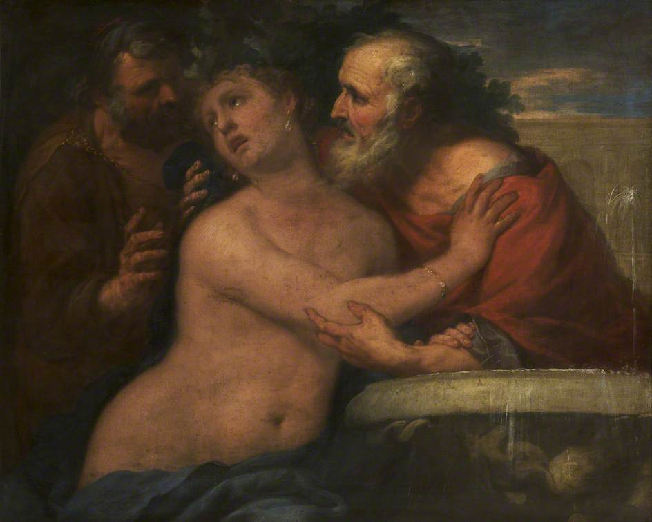 Susannah and the Elders by Luca Giordano (1634-1705, Italy) | Oil Painting | ArtsDot.com