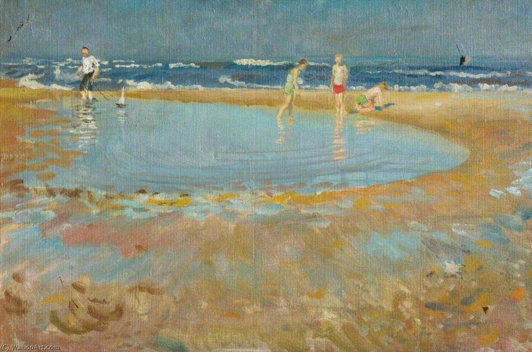 Low Tide, 1952 by Alberto Morrocco (1917-1998) | Museum Quality Reproductions | ArtsDot.com