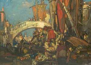 Frank William Brangwyn - A Venetian Scene