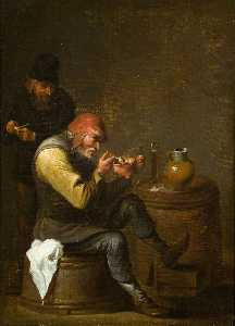 Egbert Van Heemskerck Ii - Old Men Having a Smoke