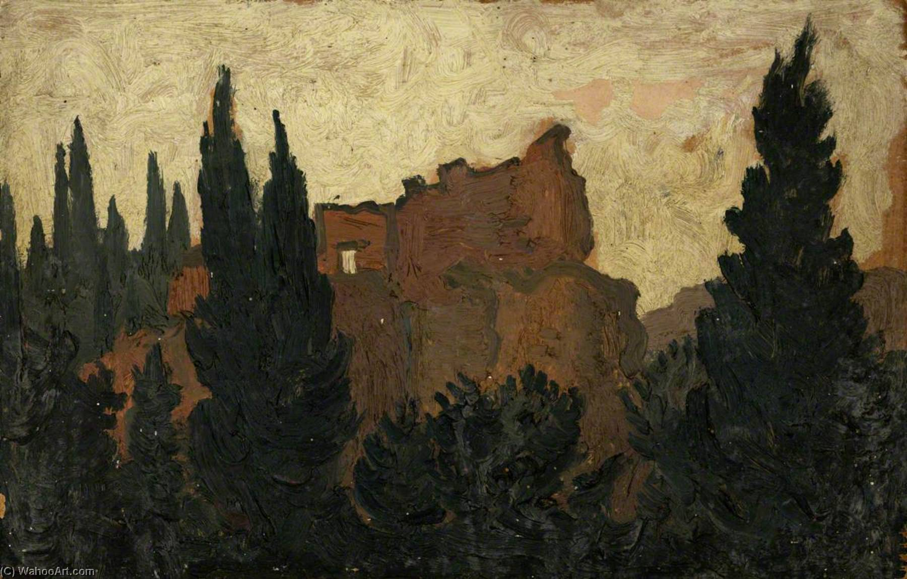 Italian Ruin, 1950 by John Kyffin Williams (1918-2006, United Kingdom) | Painting Copy | ArtsDot.com