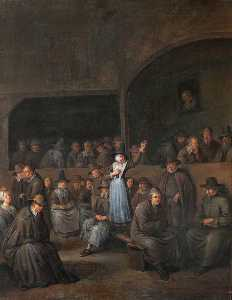 Egbert Van Heemskerck Ii - Quaker Meeting