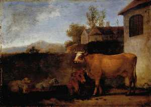 Abraham Pietersz Van Calraet - Cows and Sheep