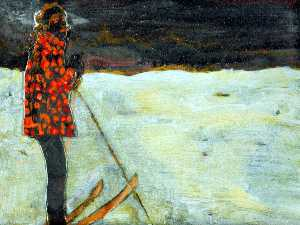 Peter Doig - Girl on Skis