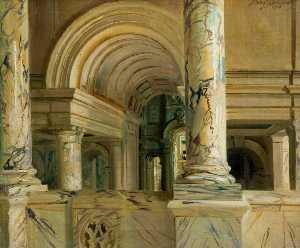 Frank O Salisbury - The Entrance Hall of the ..