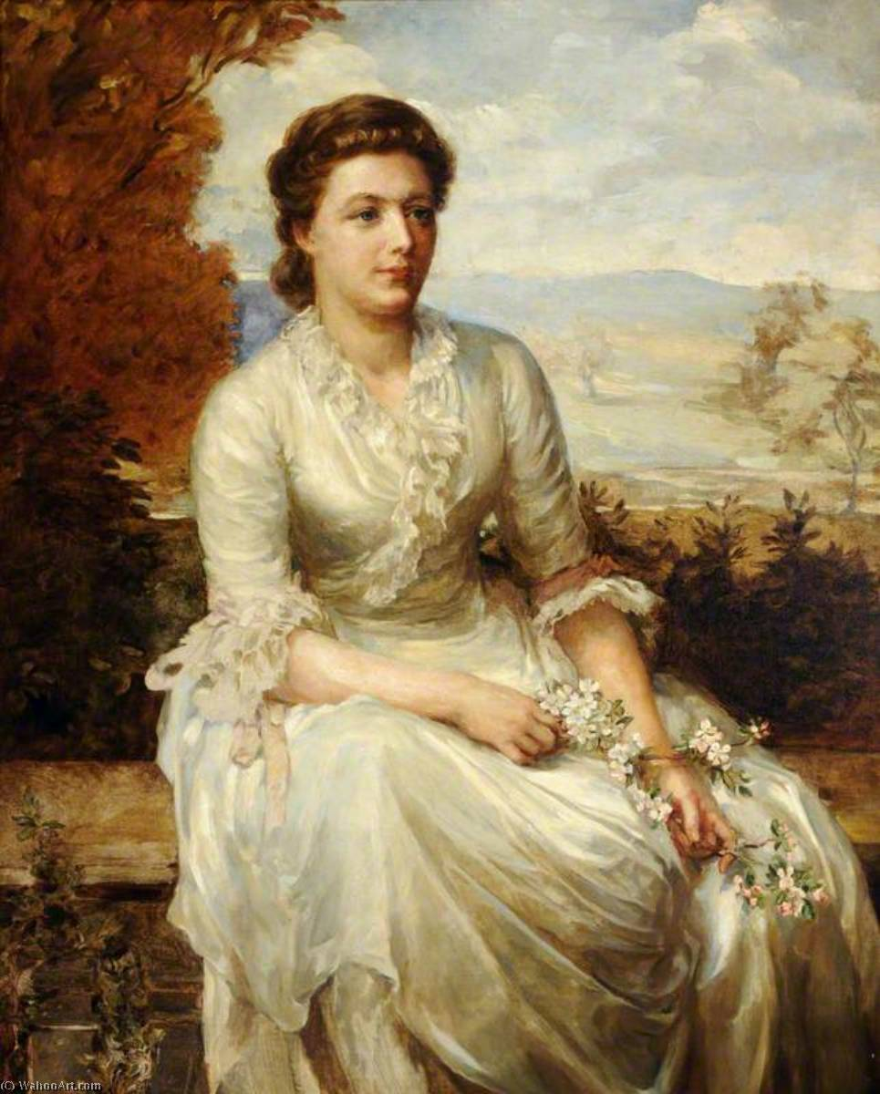 Lady Jane de Saumarez, née Jane Anne Broke (d.1933), Wife of James, 4th Baron de Saumarez, 1930 by Anna Lea Merritt (1844-1930, United States) | Museum Quality Reproductions | ArtsDot.com
