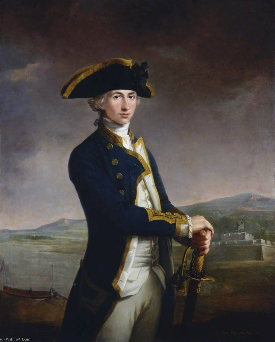 Captain Horatio Nelson (1758–1805), 1781 by John Francis Rigaud (1742-1810) | Museum Quality Reproductions | ArtsDot.com