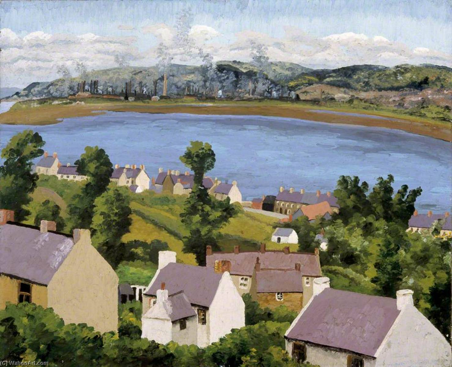Lougher from Penclawdd, 1936 by Cedric Lockwood Morris (1889-1982, United Kingdom) | Oil Painting | ArtsDot.com