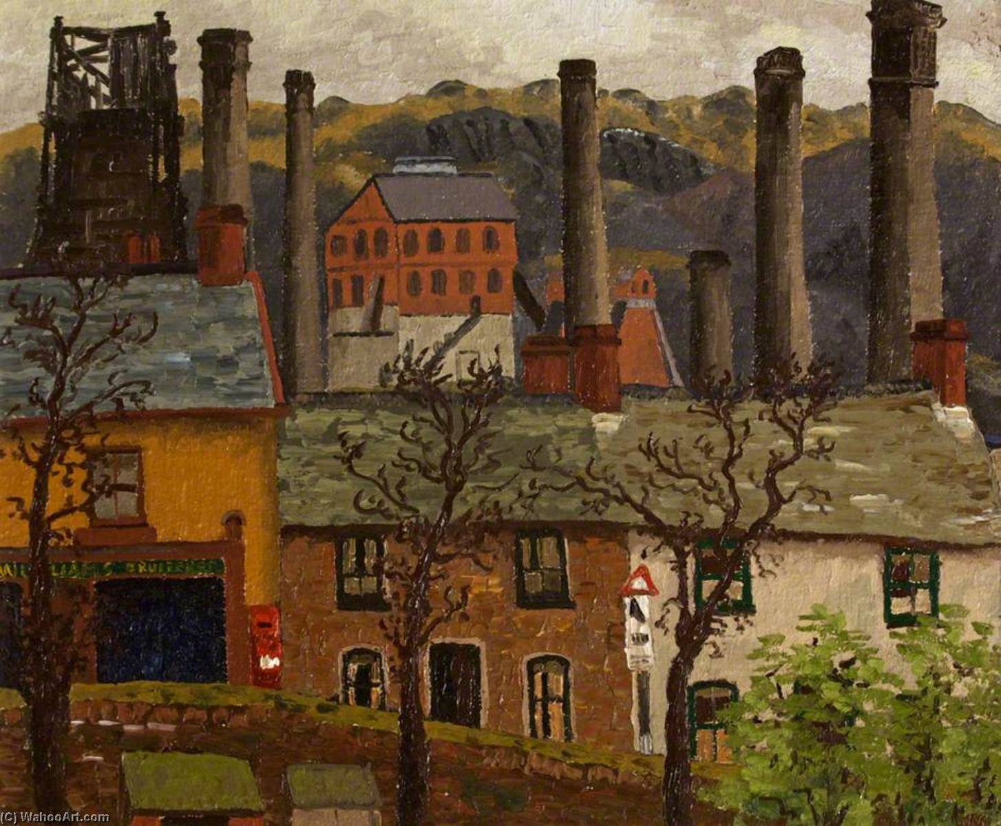 Caeharris Post Office from Gwernlwyn House, 1935 by Cedric Lockwood Morris (1889-1982, United Kingdom) | Museum Quality Reproductions | ArtsDot.com