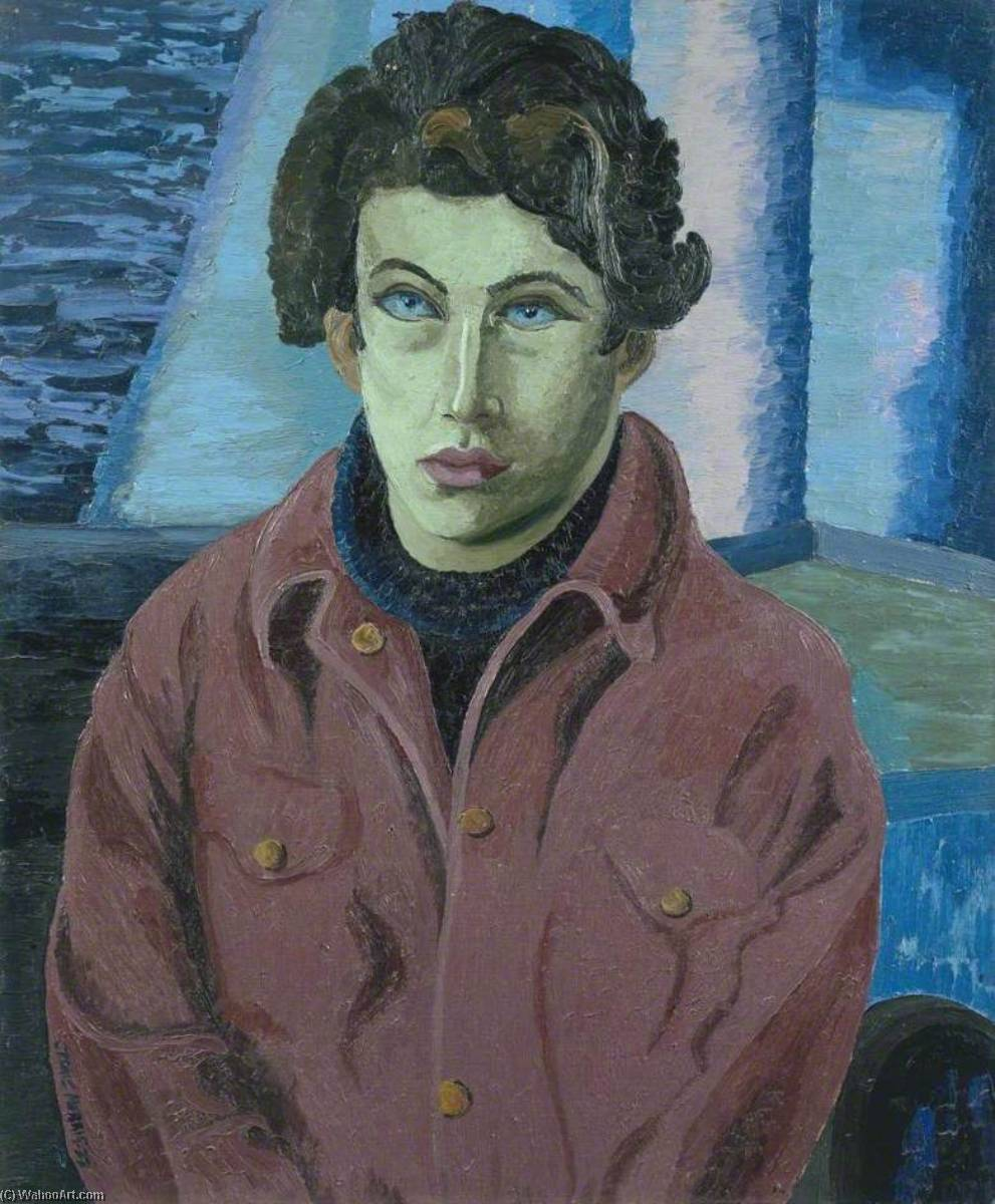 Lucian Freud, 1941 by Cedric Lockwood Morris (1889-1982, United Kingdom) | Oil Painting | ArtsDot.com
