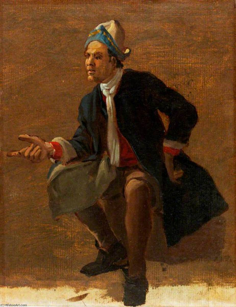 Order Painting Copy : A Seated Man, 1710 by Luca Carlevaris (1663-1730, Italy) | ArtsDot.com