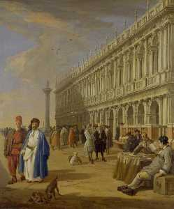 Luca Carlevaris - The Piazzetta, Venice