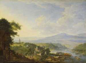 Jan Griffier - View on the Rhine