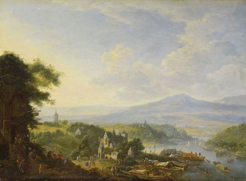 View on the Rhine, 1710 by Jan Griffier (1652-1718, Netherlands) | Painting Copy | ArtsDot.com