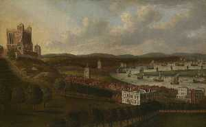 Jan Griffier - View from One Tree Hill The Queen-s House and the Royal Observatory, Greenwich