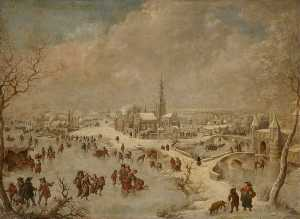 Jan Griffier - Winter Scene