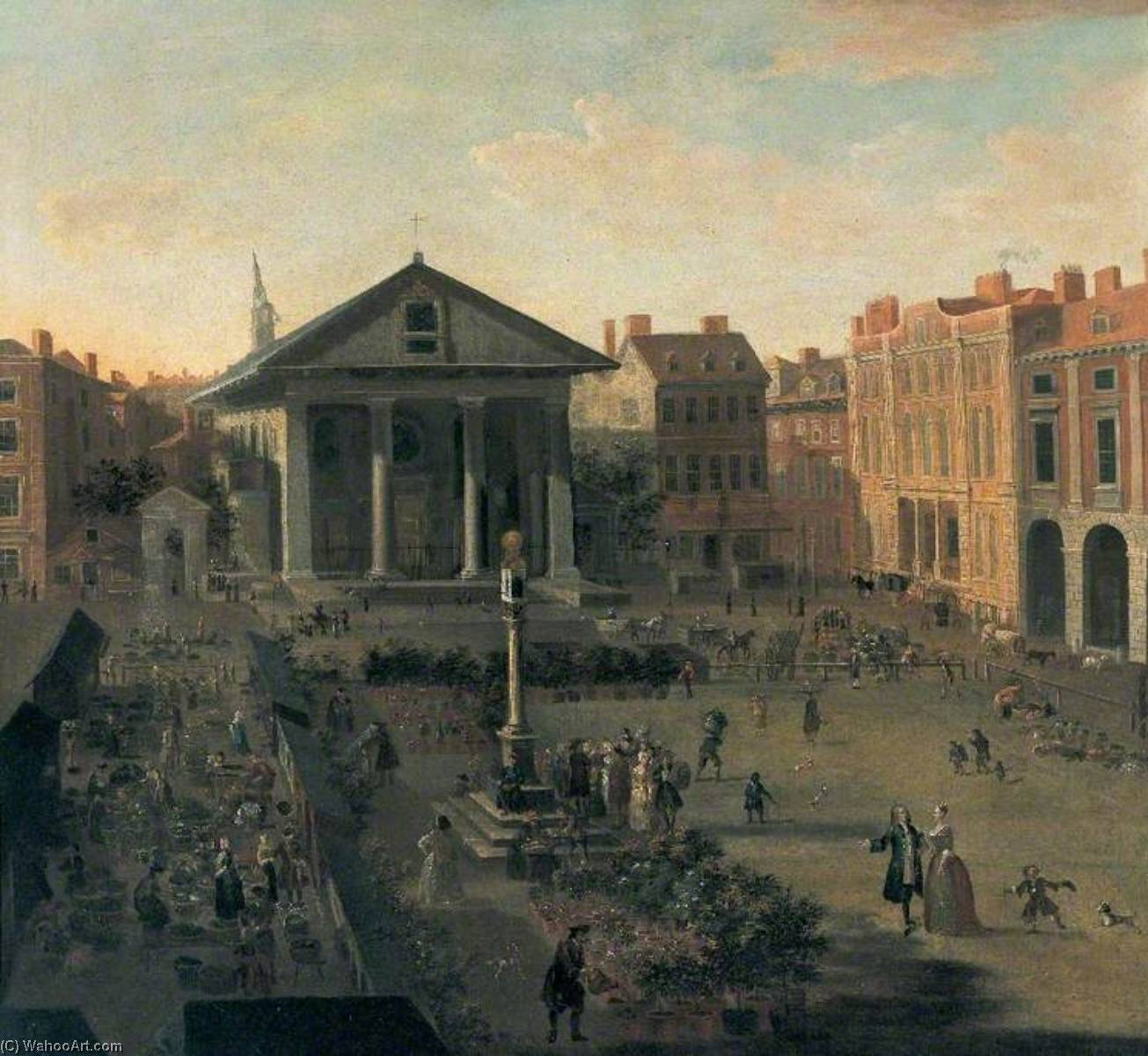 Covent Garden, London by Jan Griffier (1652-1718, Netherlands) | Oil Painting | ArtsDot.com