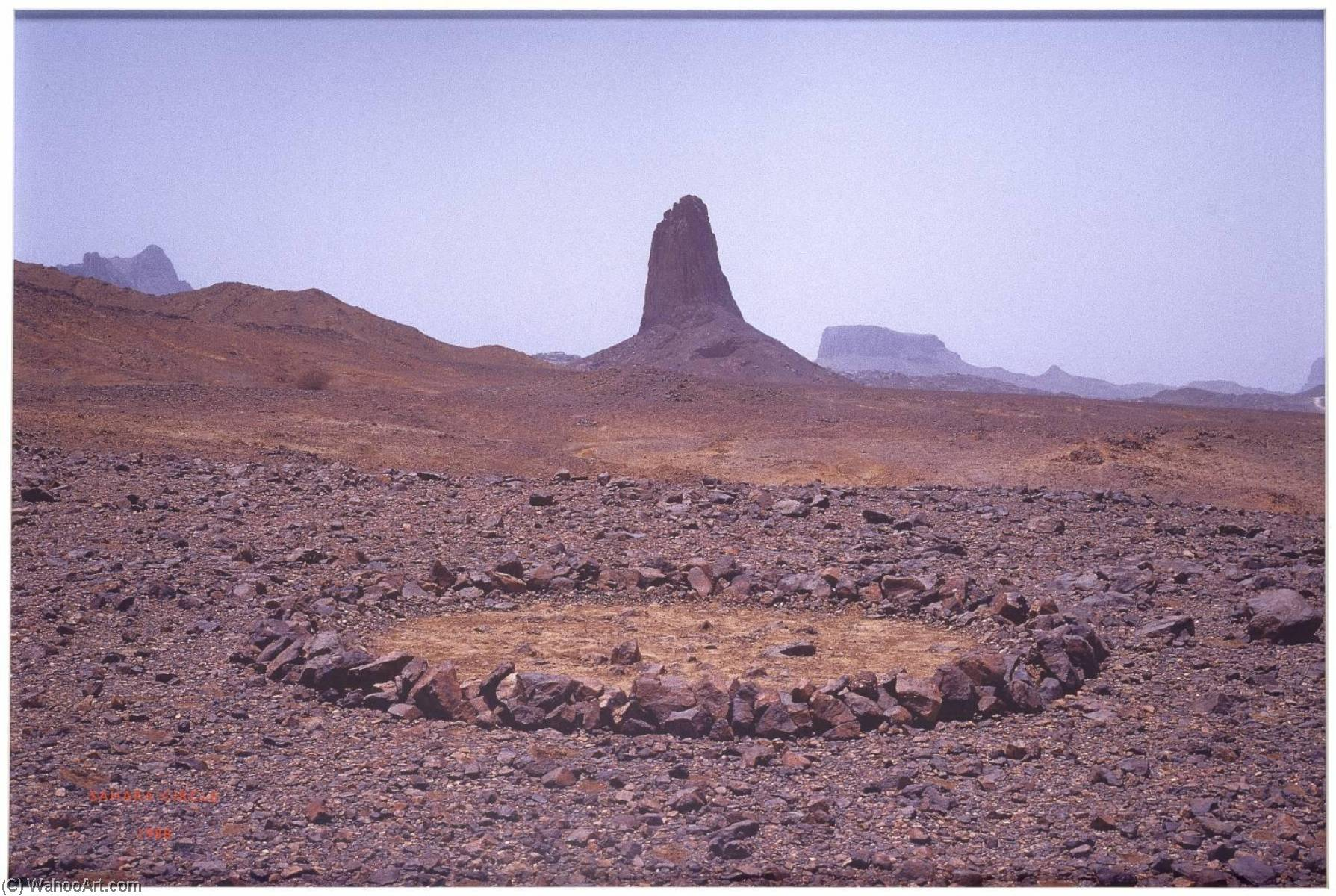 Sahara Circle, 1988 by Richard Long (1945-1974, United Kingdom) |  | ArtsDot.com