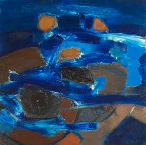 Ceri Giraldus Richards - Swimmers in Blue