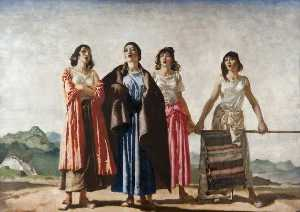 William Russell Flint - The Four Singers of Vera