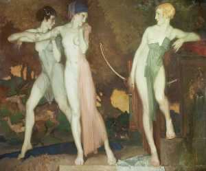 William Russell Flint - Artemis and Chione