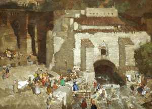 William Russell Flint - The Festival of Santa Eulalia, Andalusia