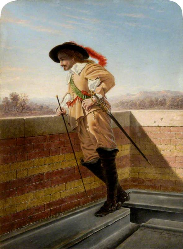 The Cavalier (after Jean Louis Ernest Meissonier), 1826 by James Nasmyth (1808-1890, Scotland) | Paintings Reproductions James Nasmyth | ArtsDot.com
