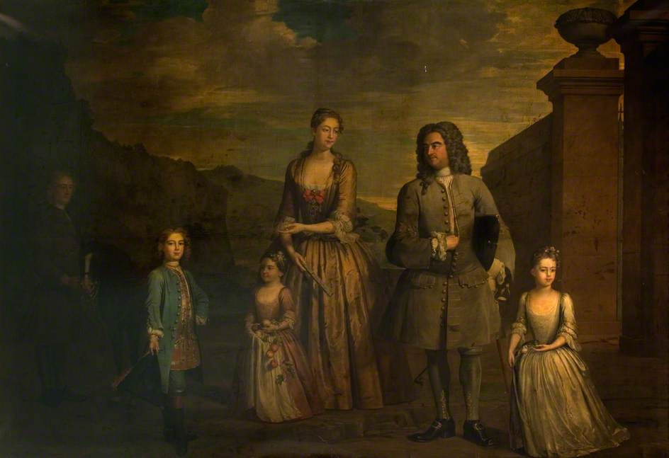 John Chetwynd, 2nd Viscount Chetwynd and Family, 1732 by Herman Van Der Myn | Art Reproduction | ArtsDot.com