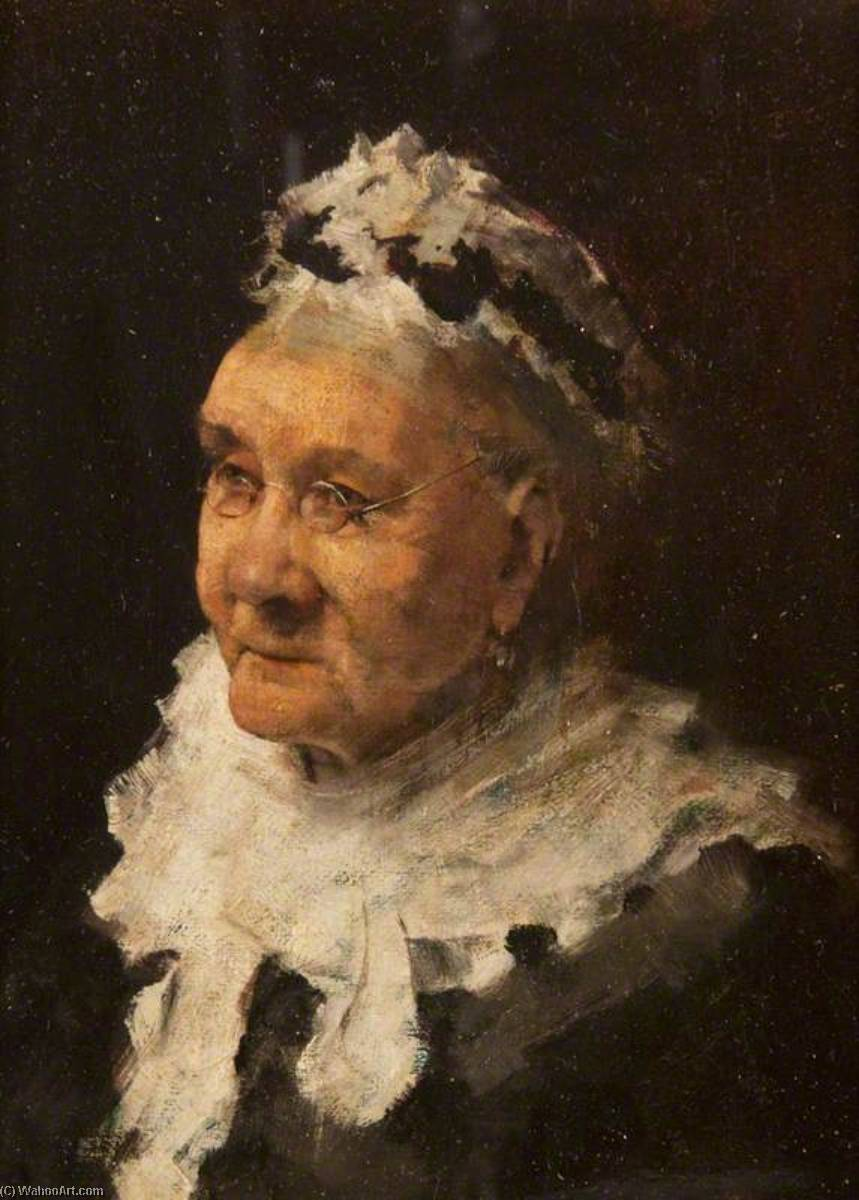 Portrait of an Old Lady by William Joseph Kennedy | Museum Quality Reproductions | ArtsDot.com