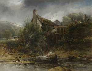 Frederick Waters (William.. - A Watermill near Totnes, ..