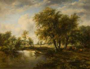 Frederick Waters (William.. - Landscape with a Stream