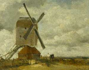 Frederick Waters (William.. - Windmills in a Landscape