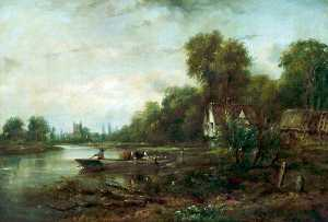 Frederick Waters (William) Watts - A Thames Ferry