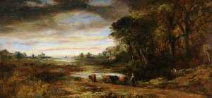 Frederick Waters (William) Watts - Landscape with Cattle