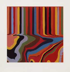 Ian Davenport - Colorplan Series Bright Red Etching