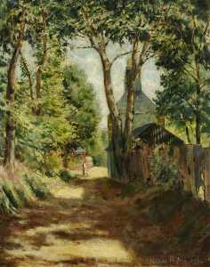 Peake Mervyn - The Avenue, Sark (recto)