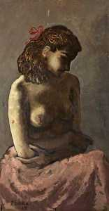 Peake Mervyn - Seated Figure