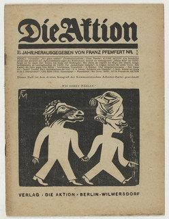 Die Aktion, vol. 11, no. 5 6, 1921 by Conrad Felixmüller (1897-1977) |  | ArtsDot.com
