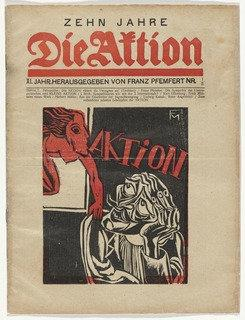 Die Aktion, vol. 11, no. 1 2, 1921 by Conrad Felixmüller (1897-1977) |  | ArtsDot.com