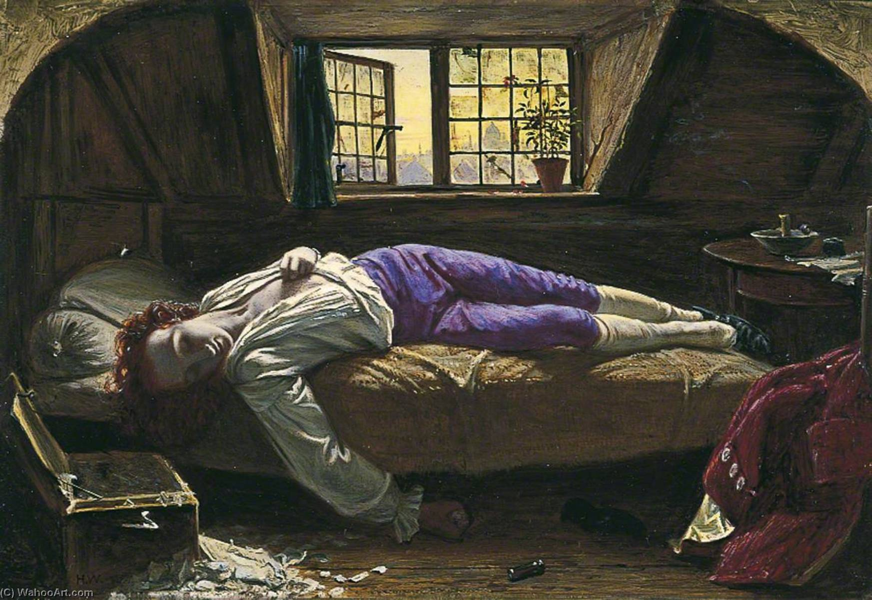 The Death of Chatterton, 1858 by Henry Wallis (1830-1916) | Art Reproductions Henry Wallis | ArtsDot.com